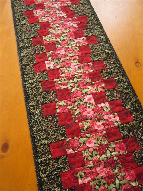 Handmade Table Runners - handmade floral quilted table runner on luulla