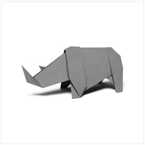 How To Make Origami Rhino - origami patterns pages wwf