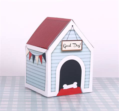 toy dog house dog house treats box printable large pet gift by paperscissorspop