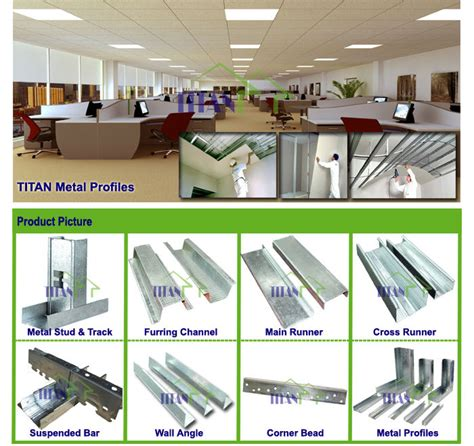 Plasterboard Ceiling Thickness Drywall Gypsum Board Metal U Shaped Galvanized Steel
