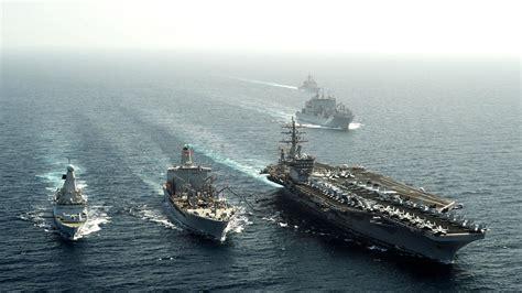 wallpaper uss dwight eisenhower aircraft carrier  navy nimitz cvn  convoy sea