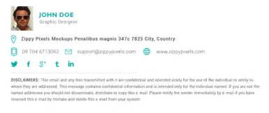 Free Email Signature Template by 20 Free Email Signature Templates Jarvis