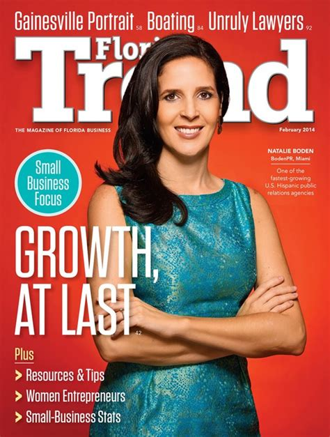 Trend Magazine boden pr makes cover story and photo of florida trend