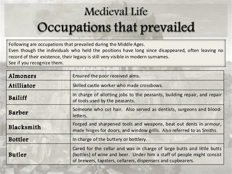 Repair Glass powerpoint medieval life occupations in medieval times