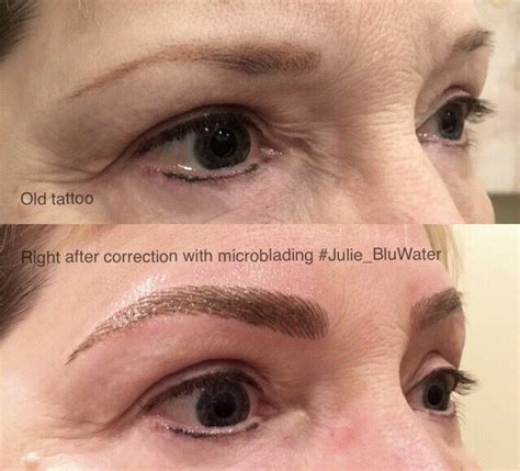 new eyebrow tattoo technique before and after microblading which is a manual