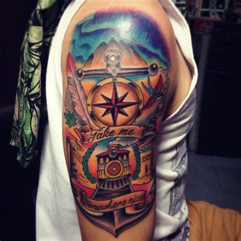backpacker tattoo 38 more travel related tattoos from backpackers