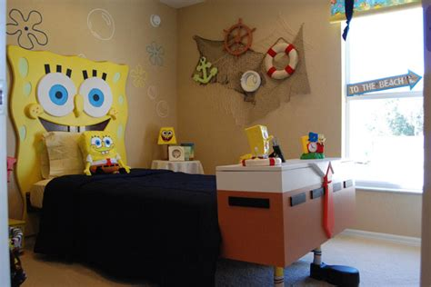 spongebob bedroom ideas spongebob squarepants themed room design digsdigs