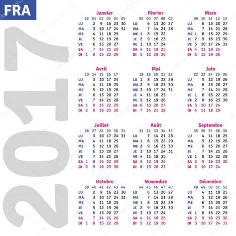 Calendrier 2017 Francais Fran 231 Ais Calendrier 2017 Image Vectorielle 101017748