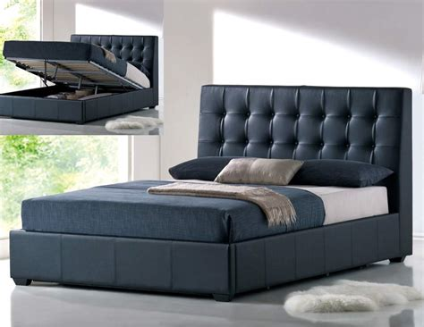 bed design with storage stylish leather luxury platform bed with extra storage