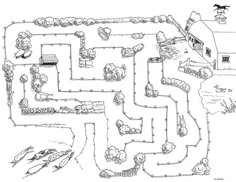printable horse maze free coloring pages of horses mazes