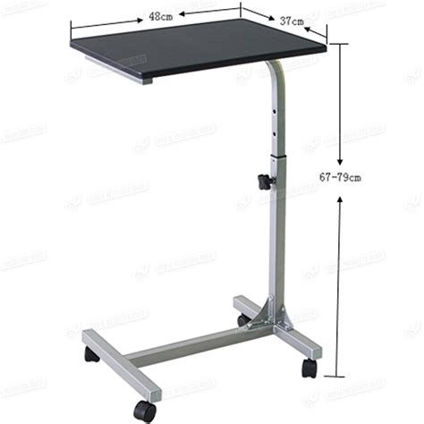 stand up computer desk on wheels laptop pc stand notebook table office furniture mobile
