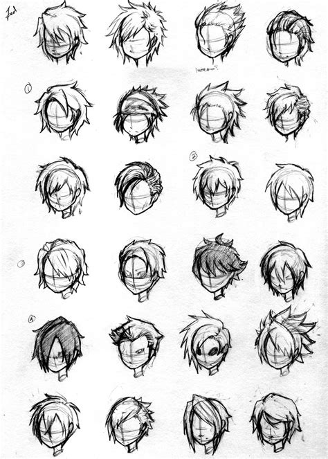 Character Hair Concepts by NoveliaProductions on DeviantArt