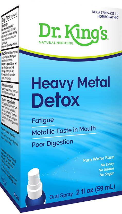 Homeopathic Heavy Metal Detox by High Potency 9 Dr King S