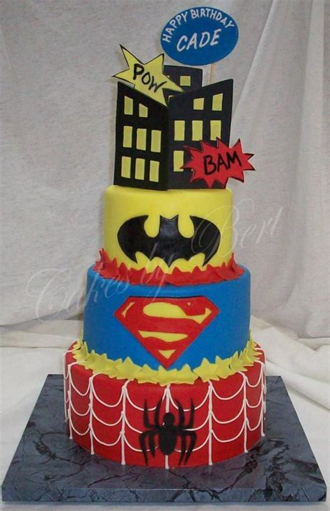 Cades Super Hero Cake Cakecentral M