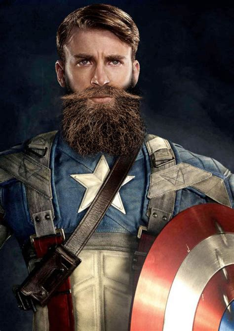 what is captain with superheroes with beards witspost