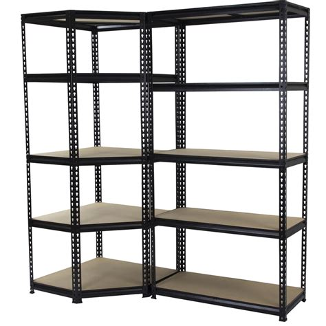 Adjustable Shelving Units 1830 X 730 X 730mm 5 Tier Corner Adjustable