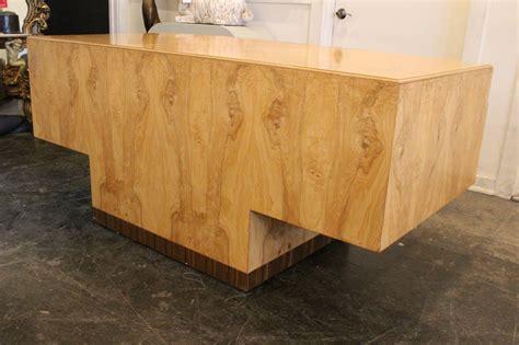 burl wood desk burl wood executive desk by henredon at 1stdibs
