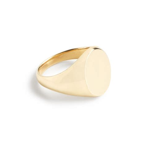 j crew 14k gold signet ring in gold lyst