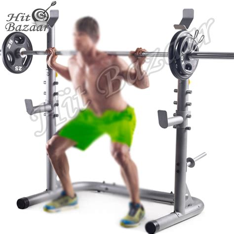 squat stands power rack weight lifting home workout