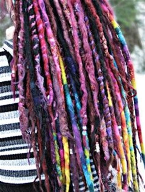dreadlock wrapped around extensions for sale rainbow dreads wrapped dreads by art locs wool dread