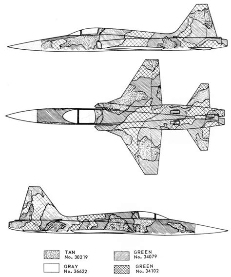northrop f 5 freedom fighter sea color profile and paint guide
