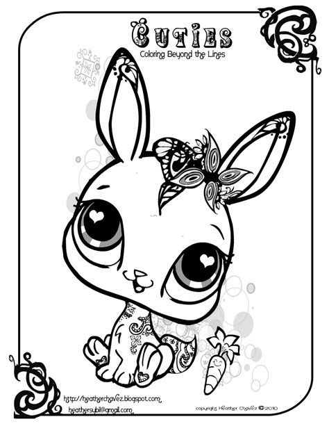 cute lps coloring pages quirky artist loft cuties free animal coloring pages