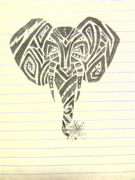 tribal elephant tattoo designs elephant images designs