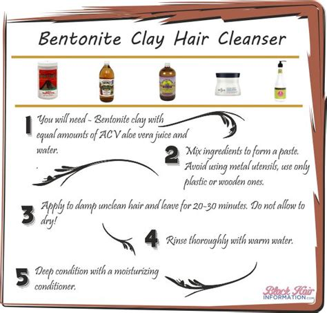 How To Detox Your Hair With Bentonite Clay by Bentonite Clay Hair Cleanser Bhi Postcard Tips