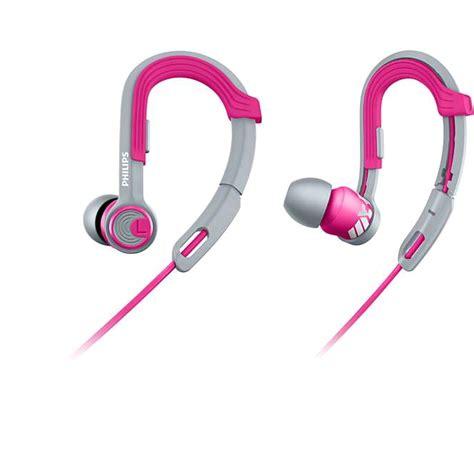 Philips Sports Earphone Shq3300 philips actionfit shq3300 sports earhook headphones pink grey expansys australia