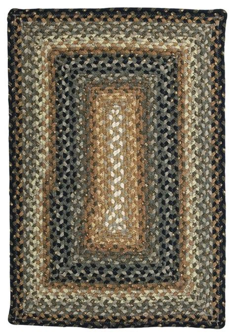 Grey And Mustard Rug by Homespice Decor Cocoa Bean Cotton Braided Black Grey