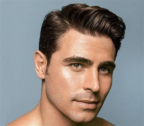 hairstyles for men of hair to the side and a line the best side part hairstyles for men