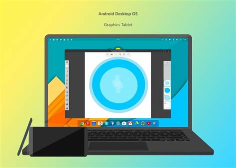 android os for laptop early stages of desktop android os rendered concept phones