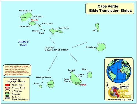 cape verde on a world map cape verde worldmap org