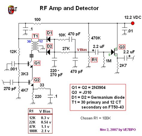 transistor rf lifier circuit cascode bjt rf lifier and high performance detector