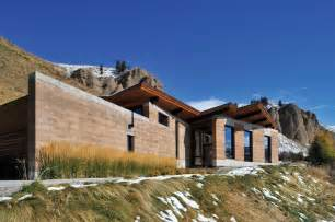 wyoming house modern earth a rammed earth house in wyoming