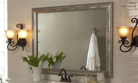 Framed Bathroom Mirror Ideas by Diy Bathroom Mirror Frame Ideas Interior Design Ideas
