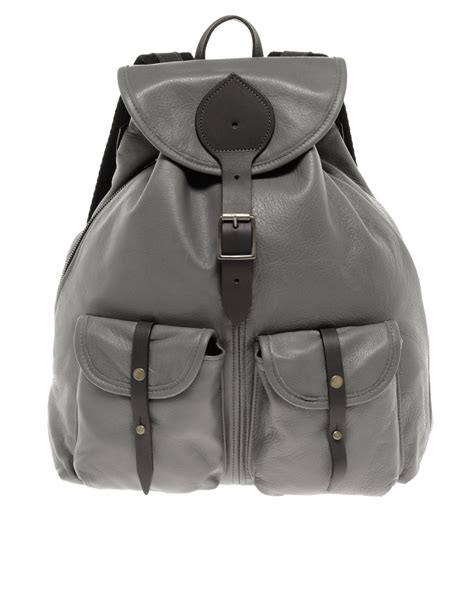 Jas Blazer Exo Grey lyst jas mb bomber backpack in gray