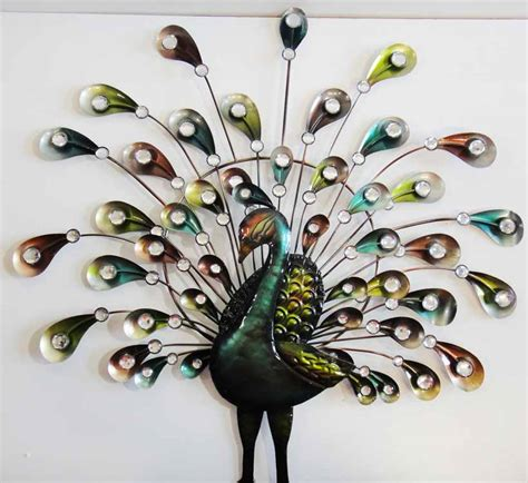 Peacock Wall Decor by Wall Designs Peacock Wall Spray Wonderful Feather