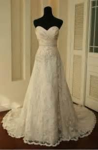 vintage lace wedding dresses vintage lace wedding dress a line bridal gown wedding dresses on luulla