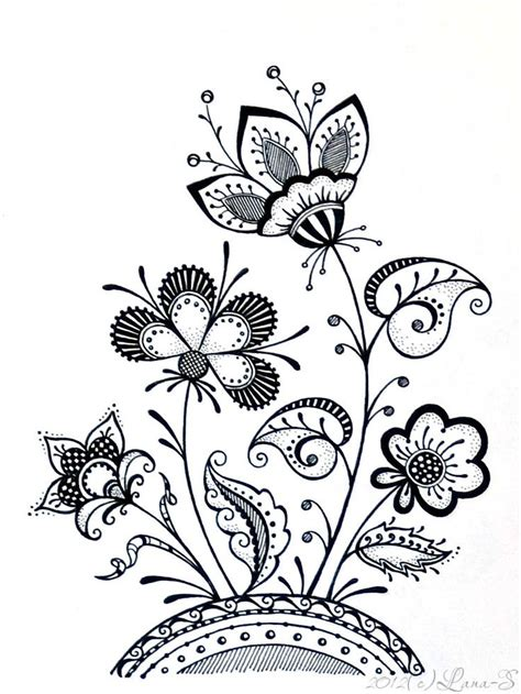 doodle flower simple pin by teresa willis on zen tangles doodles