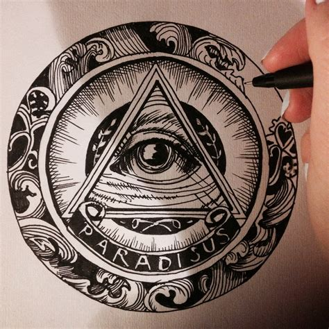 illuminati eye pyramid pyramid all seeing eye pencil and in color