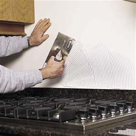 mastic for glass tile backsplash apply mastic how to install a tile backsplash this