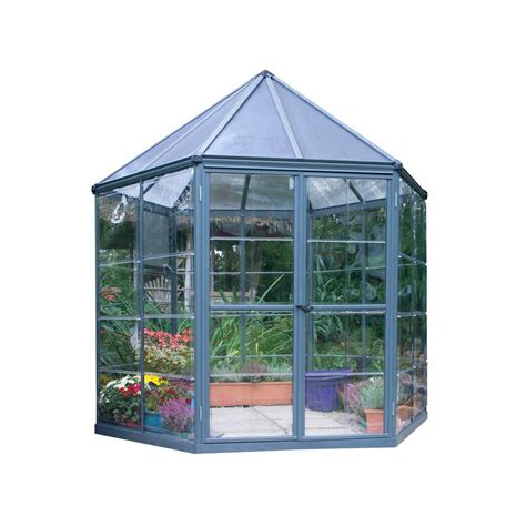 printable greenhouse palram 8 ft x 7 ft oasis hexagonal greenhouse 704053