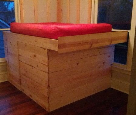 How To Elevate A Bed Frame Diy Elevated Bed Frame With Storage Area Removeandreplace
