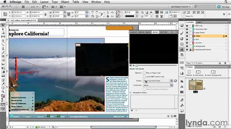 indesign javascript tutorial how to add a video url to an indesign presentation lynda