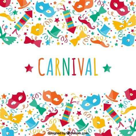 Colourful Carnival Celebration Vector Free Download Carnival Free