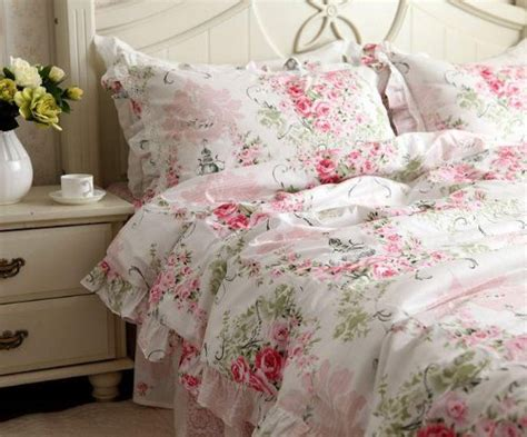 shabby chic king bedding shabby chic bedding shabby and new pink cotton 4pc bedding duvet cover set king