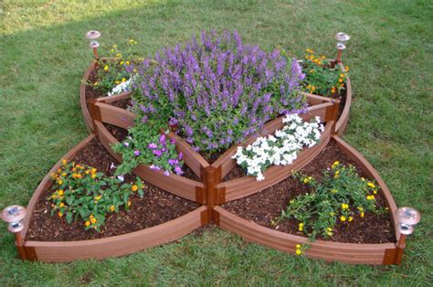 raised flower bed kits butterfly raised bed garden kit traditional outdoor
