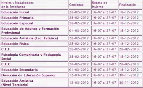 calendario escolar de argentina calendario escolar de argentina 2012 universo guia