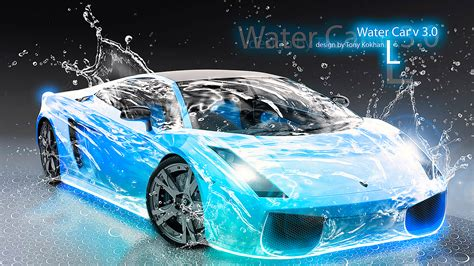 car lamborghini blue water el tony
